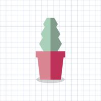 Illustration d'un cactus coloré dans un pot