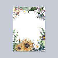 Blommande hälsningskort