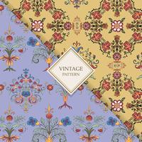 Vintage flourish patterns