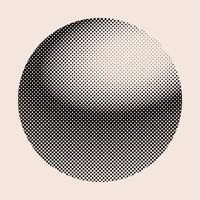 Zwart uitstekend halftone kenteken op beige vector als achtergrond
