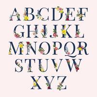Alfabet blommig bakgrunds illustration