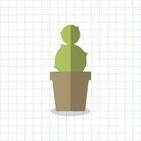 Illustration d'un cactus dans un pot