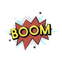 Boom explosie vector