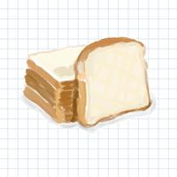 Hand drawn bread watercolor style