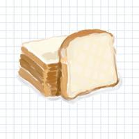 Hand drawn bread watercolor style