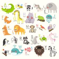 Vecteur de l'alphabet animal