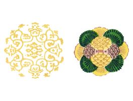Vintage Illustration of Japanese ornament