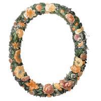 Illustration vintage d'une couronne florale