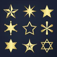 Ensemble de vecteur d'étoiles mixtes
