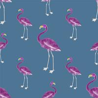 Roze flamingo behang