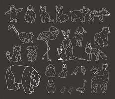 Vetor de vários tipos de animais