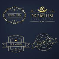 Ensemble de vecteur de badges premium