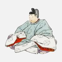 Shogun von K? No Bairei (1844-1895). Digital verbessert aus unserer eigenen Originalausgabe von Bairei Gakan von 1913