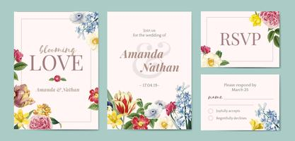 Foral styled invitation template