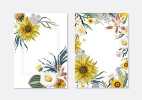 Floral greeting cards