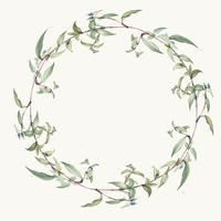 Grön blad krans design vektor