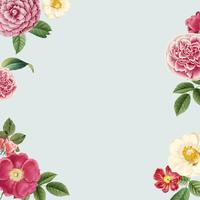 Blank floral copy space