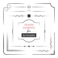 Conjunto de elementos de design para vetor de blogueiros