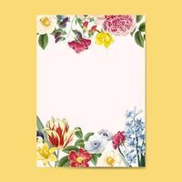 Invitación floral en blanco copia espacio