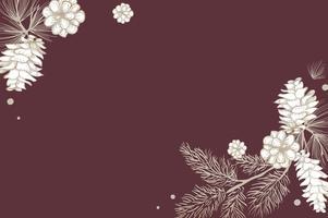 Invitation florale vierge