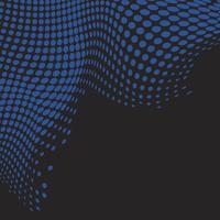 Blå vågig halvton svart bakgrund vektor