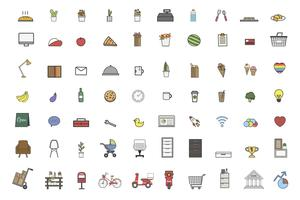 Illustration of daily stuff vector set