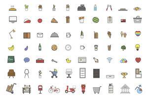 Ilustración de conjunto de vectores de cosas diarias