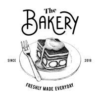 O vetor de design de logotipo de padaria