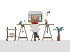 Home Office-Arbeitsplatz Abbildung