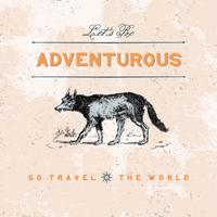 Viaggio avventuroso logo design vettoriale