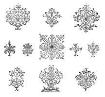 Ilustración de adorno florecer vintage