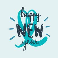Feliz año nuevo tipografía vector