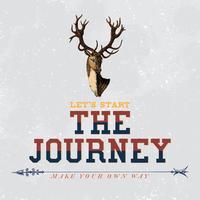 The journey logo design vector