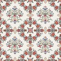 Papel pintado del patrón del flourish del vintage
