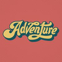 Adventure word typography style illustration