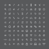 Illustration blandade ikoner uppsättning