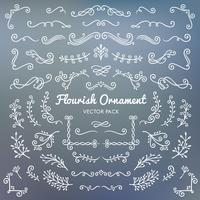 Gesetzte Illustration des Flourishverzierungen kalligraphischer Gestaltungselement-Vektors