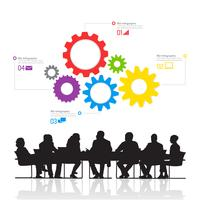 Illustration of business people in the meeting