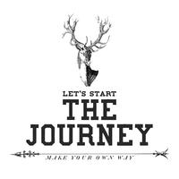 The journey logo design vector