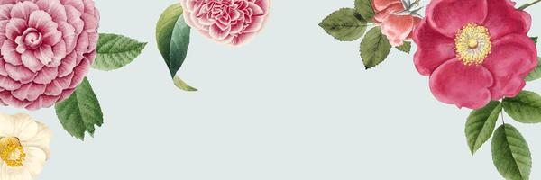 Blank floral banner copy space