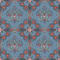 Vintage blomstrande mönster tapeter