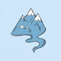 Illustration of mountain isolated on background