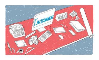 Illustrazione dell'ambiente di lavoro