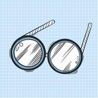 Vector de icono de gafas