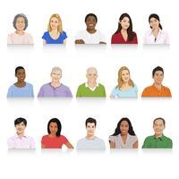 Personajes de personas diversas.