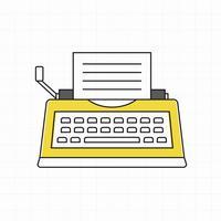 Vector de icono de máquina de escribir