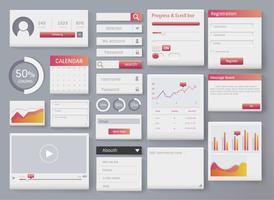 divers design d'interface de site web