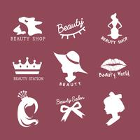 Conjunto de vectores de iconos de salón de belleza