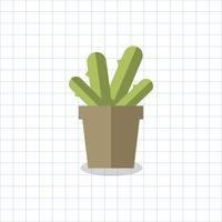 Planta de cactus en un vector de maceta