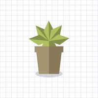 Planta espetada em um vetor de pote